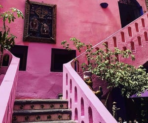 beautiful, pink, and places image