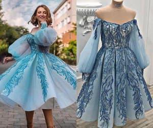 prom gown, short prom dress, and vestido de graduación image