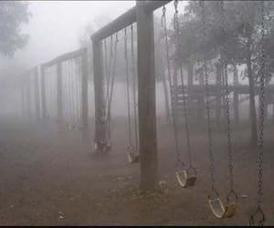 park, fog, and swing image
