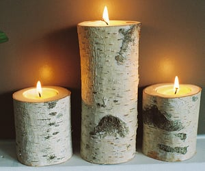 candle, nature, and wood image