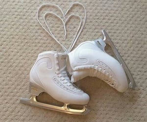 ice skate and aesthetic image