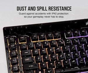 gaming keyboard and corsair k55 image