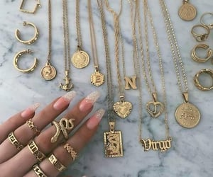 glam, golden, and rings image
