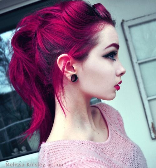 Colorful Hair Tumblr Uploaded By Waɴĸer On We Heart It