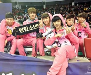 pink and bts image