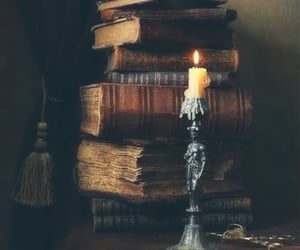 book, vintage, and candle image