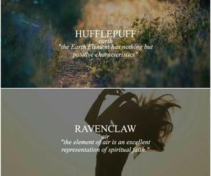 aesthetic, ravenclaw, and hufflepuff image