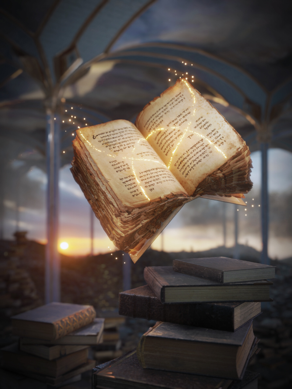 article, books, and fantasy image
