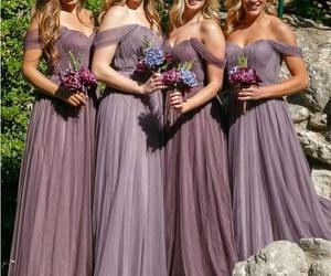 bridesmaids, dress, and bridesmaids dresses image