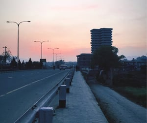 city, lonely, and road image