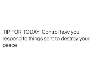control, lesson, and peace image