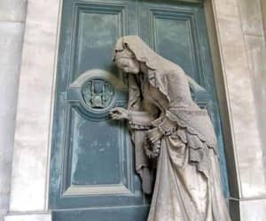 staglieno cemetery, knocking on the door, and by g.b. cevasco image