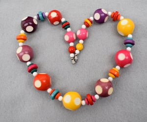 etsy, yellow red, and 20 inch necklace image