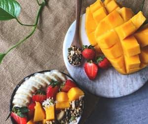 banana, healthy, and mango image