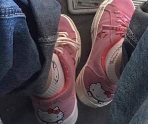 hello kitty, shoes, and aesthetic image