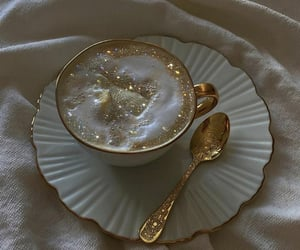 coffee, aesthetic, and gold image