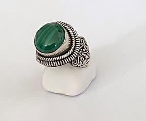 etsy, malachite ring, and southwestern style image