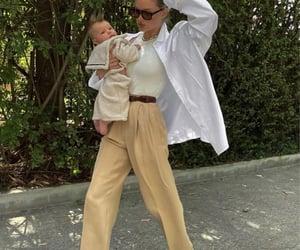 model, baby, and elsa hosk image
