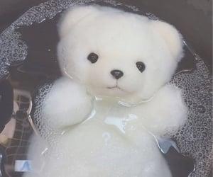 sad, stuffed animal, and white image