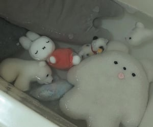 sad, aesthetic, and stuffed animal image