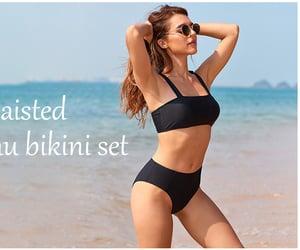 summer, bikini, and swimsuit image