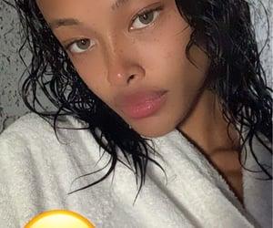 freckles, instagram story, and hazel eyes image
