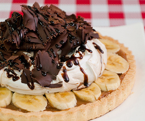bananas, delicious, and nutella image