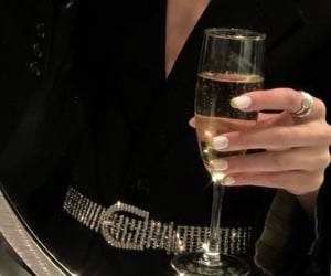 champagne, drink, and drinks image