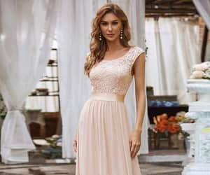 evening dresses, chiffon dress, and evening gowns image