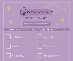 aesthetic, gemini, and zodiac image