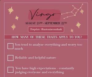 virgo, astrologie, and aesthetic image