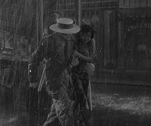 1940s, movie, and rain image