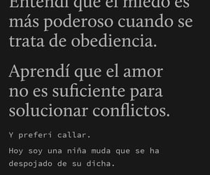 amor, obediencia, and dolor image