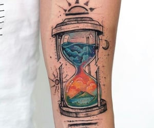 art, blue, and time image