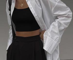 aesthetic, black, and fashion image