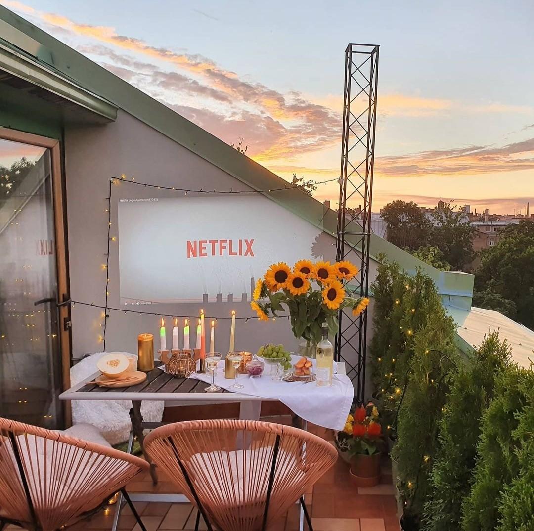 balcony, cosy, and movie image