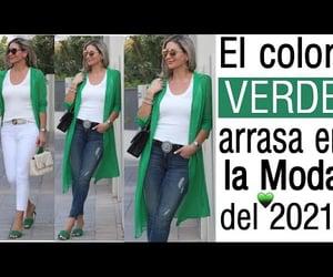 fashion, moda, and verde image