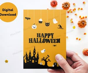 etsy, autumn greeting card, and halloween card pdf image