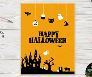 etsy, autumn greeting card, and spooky halloween image