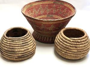 etsy, grass basket, and vintage baskets image