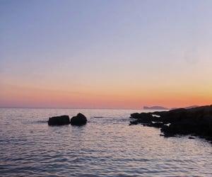 mare, Sardinia, and sunset image