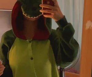 chill, green, and dino image