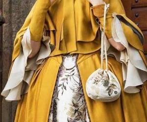 dress, fantasy, and yellow image