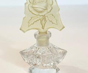 czechoslovakia, antique perfume, and cut glass perfume image