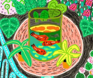aquarium, artist, and caricatura image