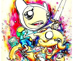 art, finn, and JAKe image