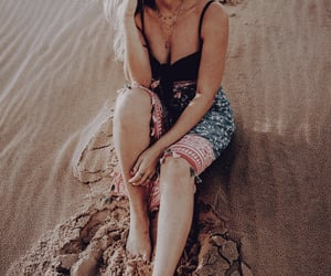 aesthetic, sand, and woman image