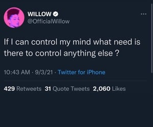 mind control, willow smith, and quotes image