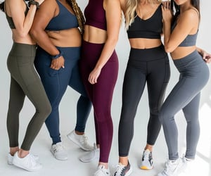 yoga leggings, women's leggings, and sports leggings image