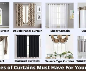 sheer curtains, types of curtain, and double panel curtain image